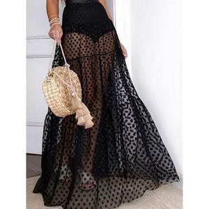 COPY - High waisted polka dot maxi skirt